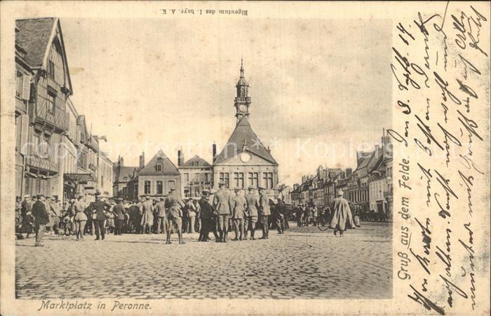 Peronne Somme Marktplatz Kat. Peronne