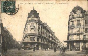 Orleans Loiret Rue de la Republique Rue Baunier Kat. Orleans