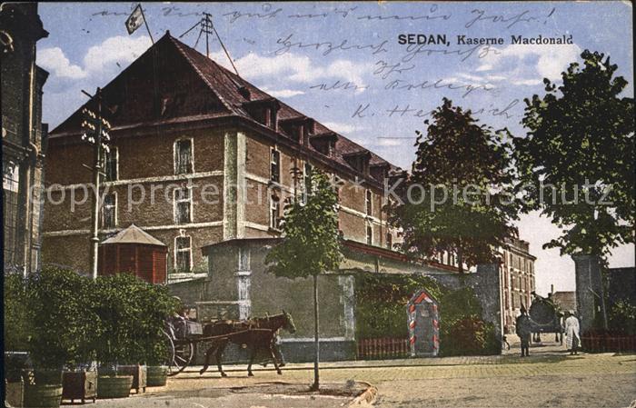 Sedan Ardennes Kaserne Macdonald Kat. Sedan
