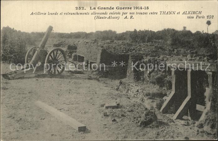 Thann Haut Rhin Elsass Altkirch Weltkrieg 1914 1915 Artilleriestellungen  Kat. Thann