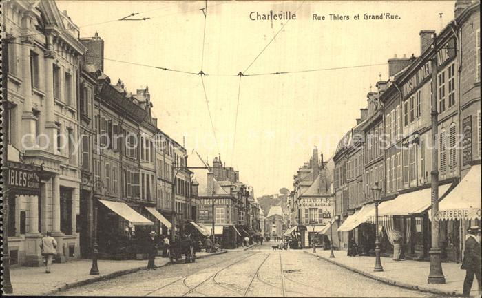 Charleville Mezieres Rue Thiers Grand Rue Kat. Charleville Mezieres