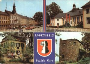 Bad Lobenstein Thueringen Markt Kreiskulturhaus Parkpavillon Alter Turm Kat. Bad Lobenstein