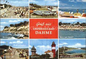 Dahme Ostseebad Strand Kurpromenade Leuchtturm  Kat. Dahme