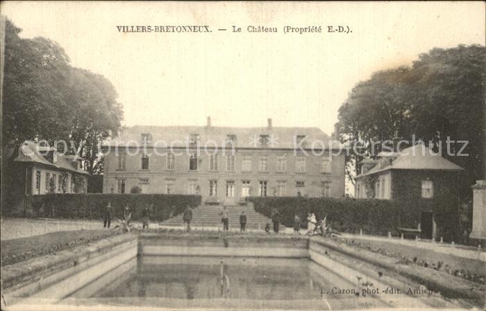 Villers Bretonneux Chateau Schloss Kat. Villers Bretonneux