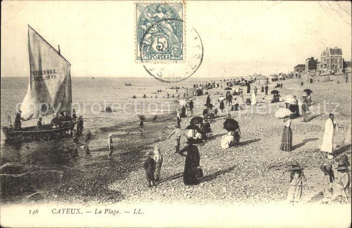 Cayeux sur Mer La Plage Strand Kat. Cayeux sur Mer