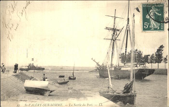 Saint Valery sur Somme Sortie du Port Bateaux Kat. Saint Valery sur Somme