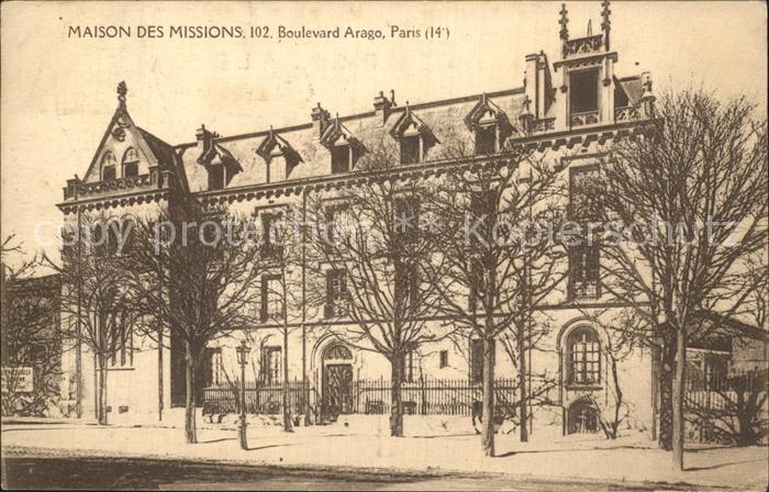 Paris Maison des Missions Boulevard Arago Kat. Paris