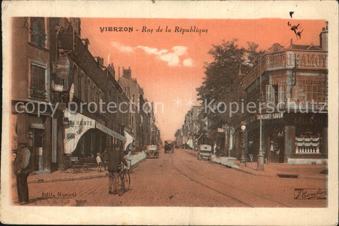 Vierzon Rue de la Republique Kat. Vierzon