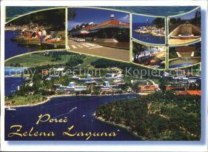 Porec Fliegeraufnahme Teilansicht Hafen Kat. Kroatien
