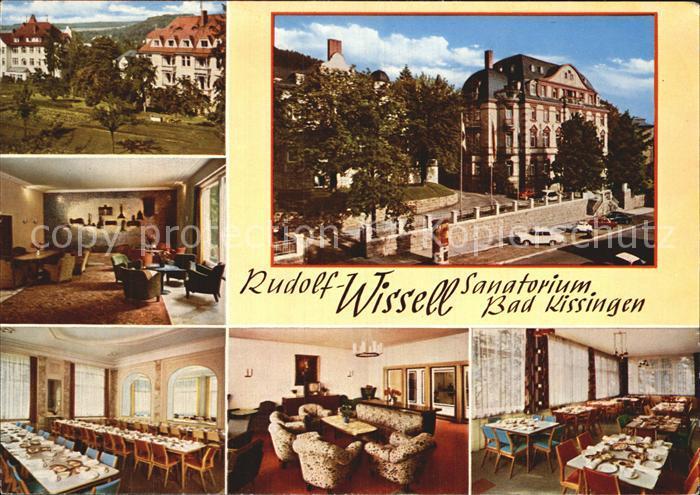 Bad Kissingen Rudolf Wissell Sanatorium Halle Speisesaal Aufenthaltsraum Kat. Bad Kissingen