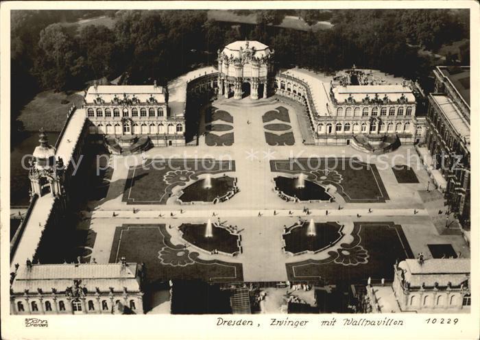 Dresden Zwinger mit Wallpavillon Kat. Dresden Elbe