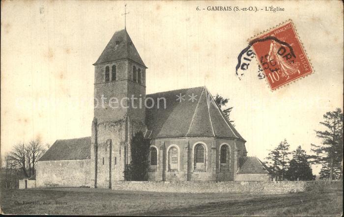 Gambais Eglise Kirche Kat. Gambais