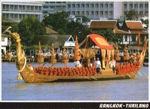 Bangkok The Royal Barge Suphannahong is held in the procession along the river Kat. Bangkok