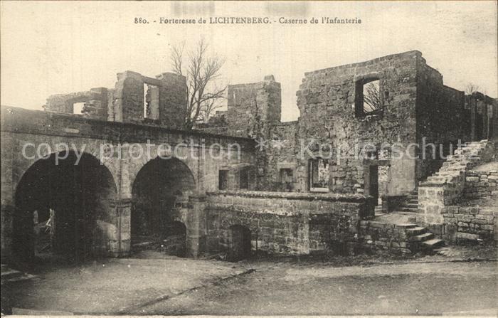Lichtenberg Saverne Forteresse Caserne de l Infanterie Ruines Kat. Lichtenberg