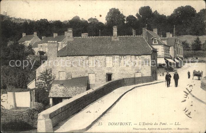 Domfront Orne Entree du Pont Kat. Domfront