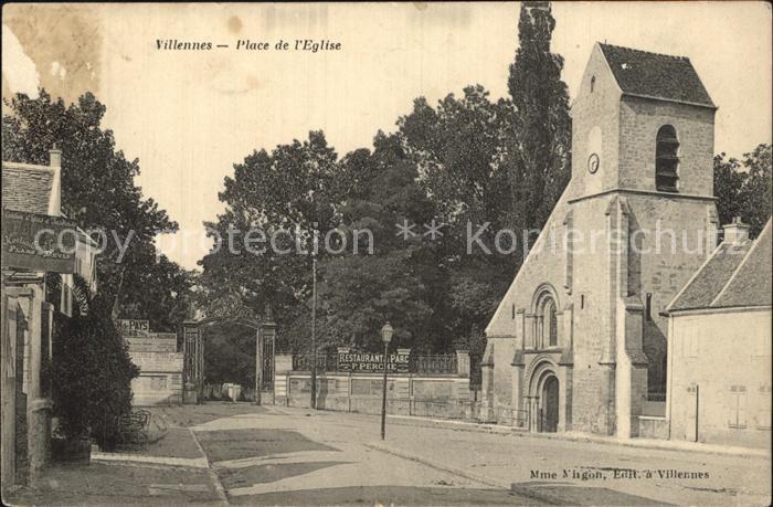 Villennes sur Seine Place de l Eglise Kat. Villennes sur Seine