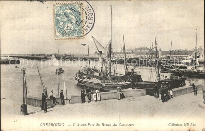 Cherbourg Octeville Basse Normandie Avant Port du Bassin du Commerce Bateaux Kat. Cherbourg Octeville