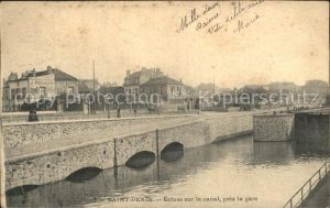 Saint Denis Seine Saint Denis Ecluse sur le canal pres la gare