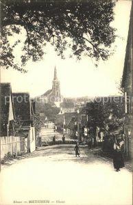 Matzenheim Strassenpartie mit Blick zur Kirche Kat. Matzenheim
