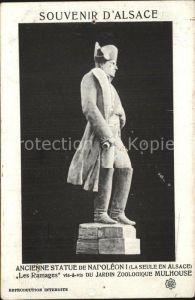 Mulhouse Muehlhausen Ancienne Statue de Napoleon I Les Ramages pres le Jardin Zoologique Kat. Mulhouse