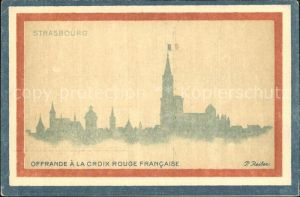 Strasbourg Alsace Offrande a la Croix Rouge Francaise Kat. Strasbourg