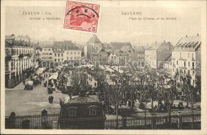 Zabern Saverne Schlossplatz Marktplatz Place du Chateau Place du Marche