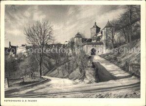 Rothenburg Tauber Partie an der Burg Kat. Rothenburg ob der Tauber