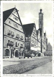 Rothenburg Tauber Herrengasse und Rothausturm Kat. Rothenburg ob der Tauber