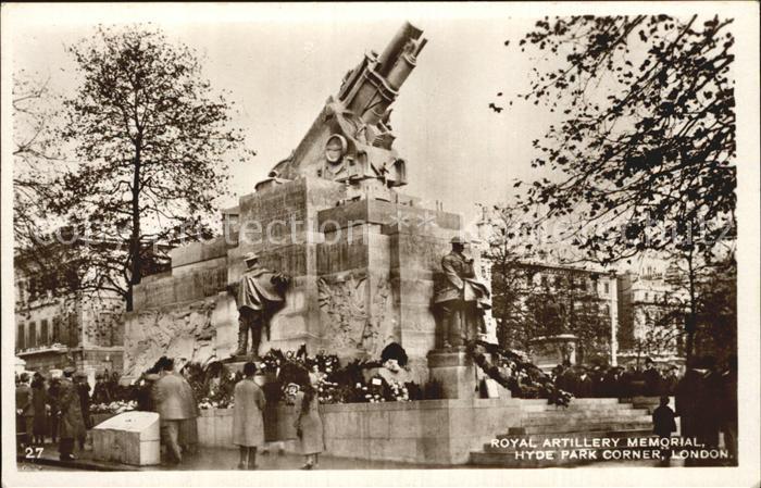 London Royal Artillery Memorial Hyde Park Corner Kat. City of London