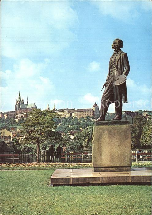 Praha Prahy Prague Burg mit Denkmal Manes Kat. Praha