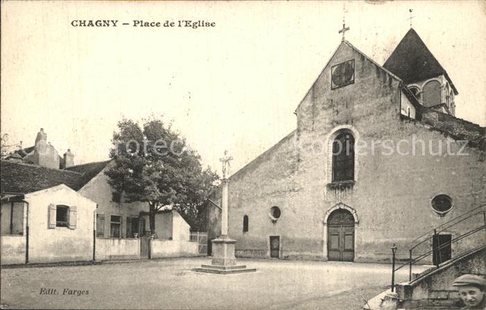 Chagny Saone et Loire Place de l Eglise Kat. Chagny