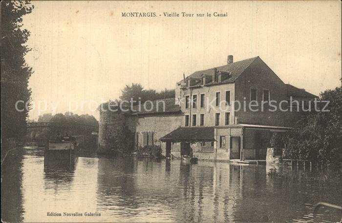 Montargis Loiret Vieille Tour sur le Canal Kat. Montargis