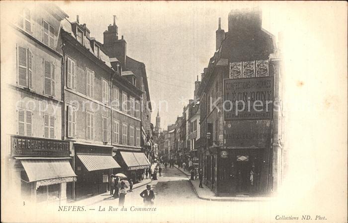 Nevers Nievre Rue du Commerce Kat. Nevers