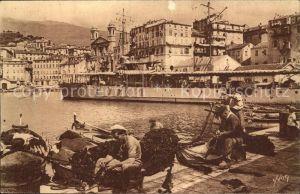 Bastia Les Quais du Vieux Port Bateau Pecheurs Collection La Douce France Kat. Bastia