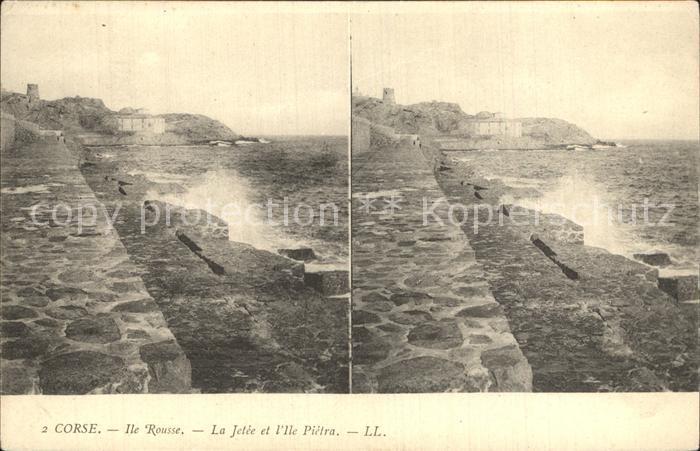 Ile Rousse La Jetee et l Ile Pietra