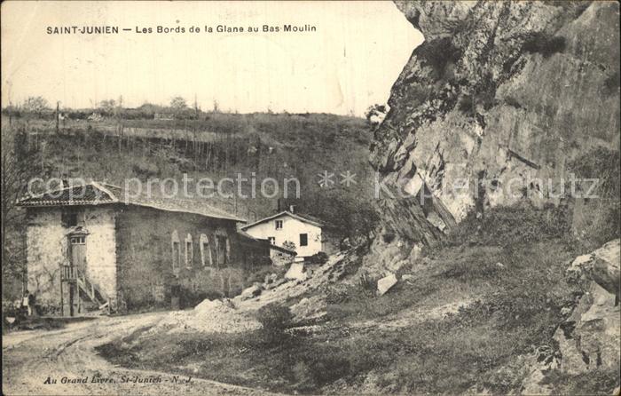 Saint Junien Les Bords de la Glane au Bas Moulin Kat. Saint Junien