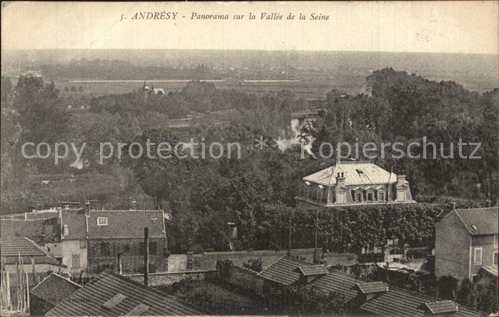 Andresy Panorama sur la Vallee de la Seine Kat. Andresy