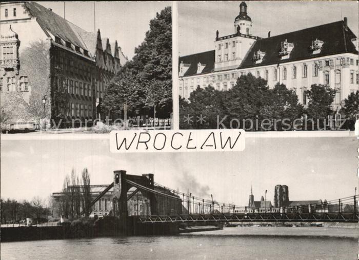 Wroclaw Breslau Brueckenpartie Kat. Wroclaw Breslau