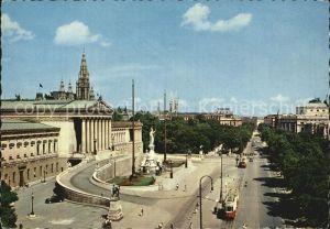 Wien Parlament Rathaus und Burgtheater Kat. Wien