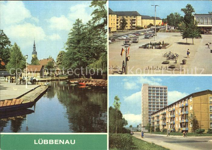 Luebbenau Spreewald Hafen Roter Platz Strasse der Jugend Kat. Luebbenau