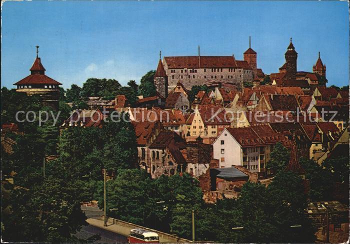 Nuernberg mit Burg Kat. Nuernberg