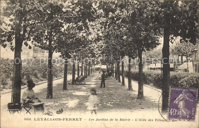 Levallois Perret Les jardins de la Mairie Allee des Tilleuls Kat. Levallois Perret
