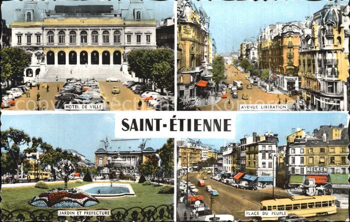 Saint Etienne Loire Hotel De Ville Jardin et Prefecture Place du Peuple Avenue Liberation Kat. Saint Etienne