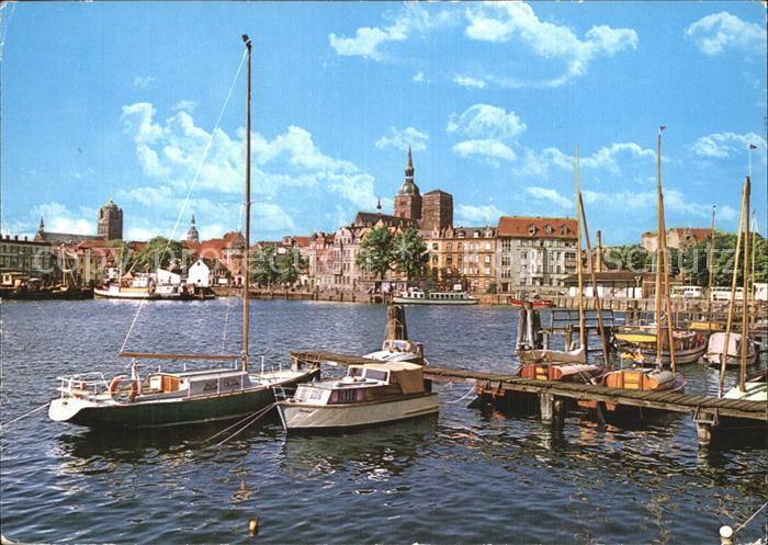 Stralsund Mecklenburg Vorpommern Blick auf Hafen Kat. Stralsund
