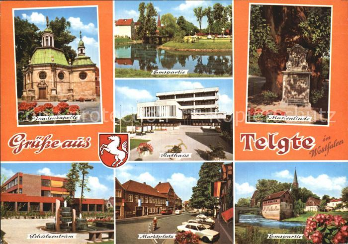 Telgte Warendorf Gnadenkapelle Emspartie Marienlinde Rathaus Schulzentrum Kat. Telgte