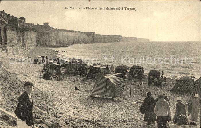 Onival sur Mer La Plage et les Falaises cote Treport