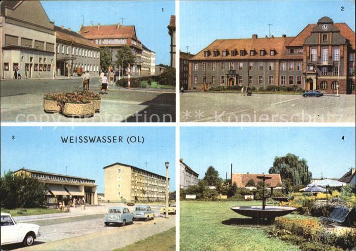 Weisswasser Muskauer Strasse Rathaus Wohnkomplex Humboldstrasse  Kat. Weisswasser