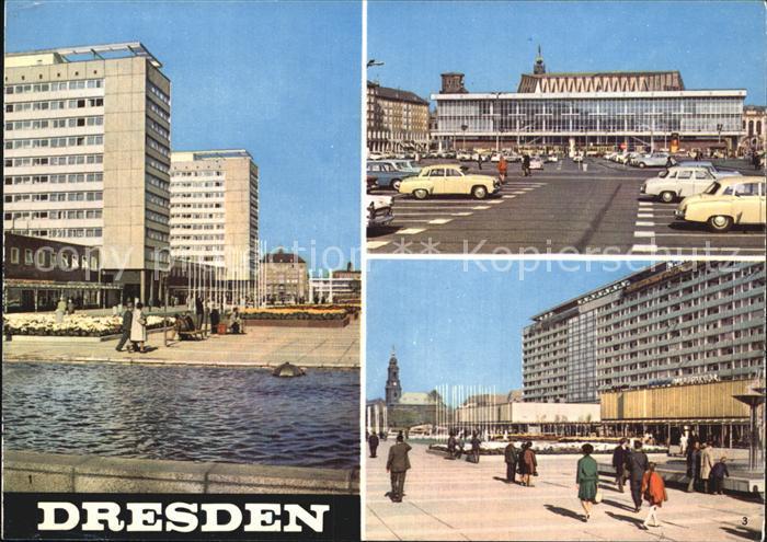 Dresden Interhotels Prager Strasse Kulturpalast Wohnzeile Prager Strasse Kat. Dresden Elbe