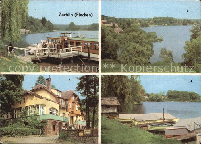 Zechlin Flecken Dampfanlegestelle Schwarzen See FDGB Erholungsheim