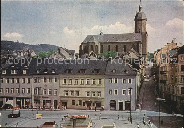 Annaberg Buchholz Erzgebirge Markt Annenkirche Poehlberg Kat. Annaberg